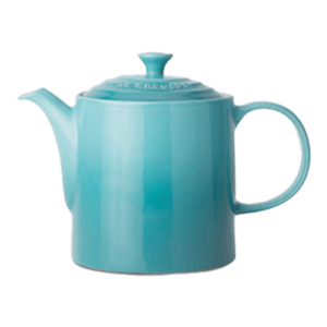 Semaine tastemaker Raven Smith uses stoneware grand teapot by le Creuset