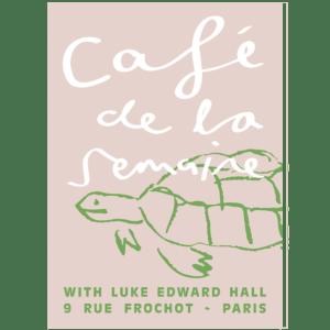 Tastemaker Luke Edward Hall Pink Tortoise signed print