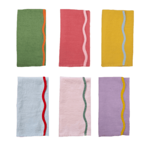 Semaine tastemaker Matilda Goad recommends own scallop trim linen napkins