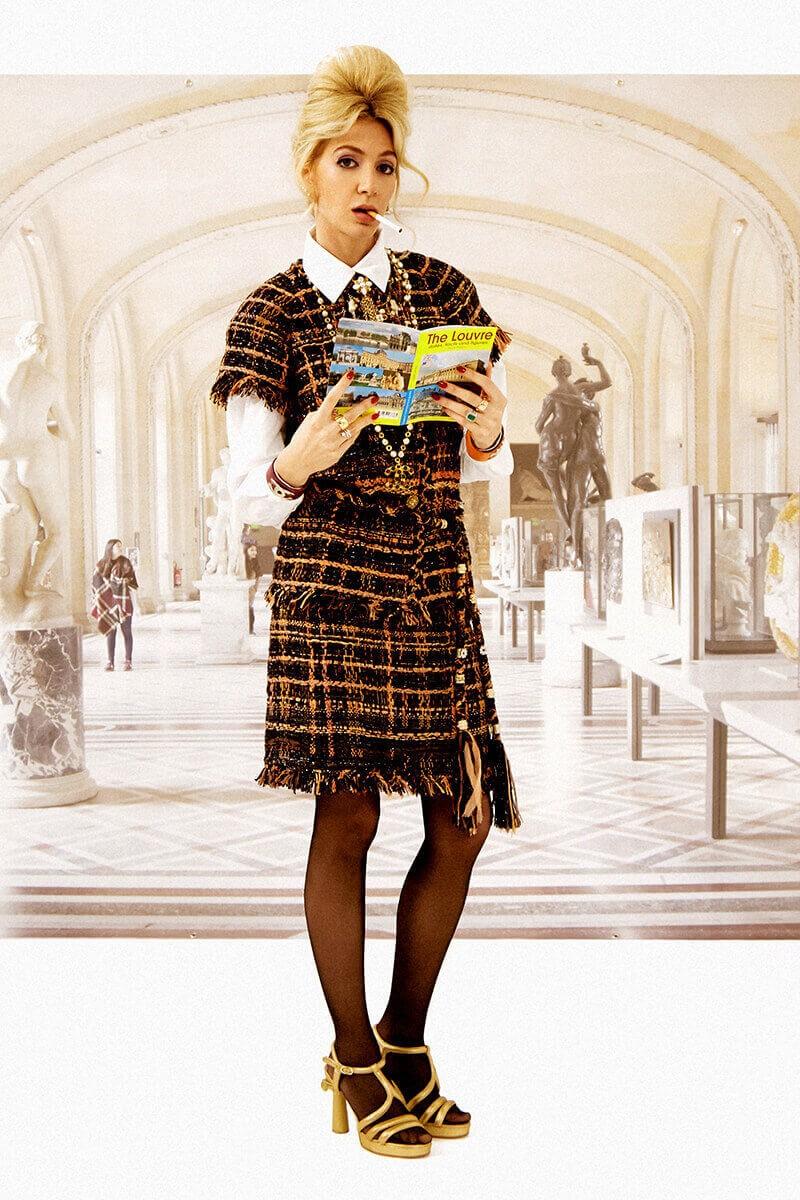 Semaine tastemaker Sabine Getty in Chanel by Alice Rosati