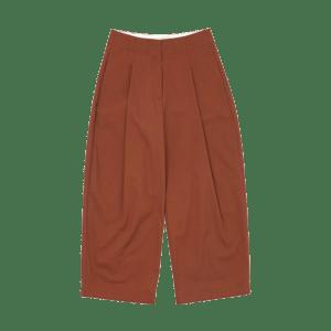 Semaine tastemaker Margot Henderson wears dordoni volume trousers
