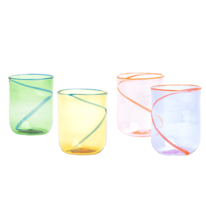 Semaine tastemaker Skye Gyngell loves the colorful glasses by The Yellow World x Laguna B