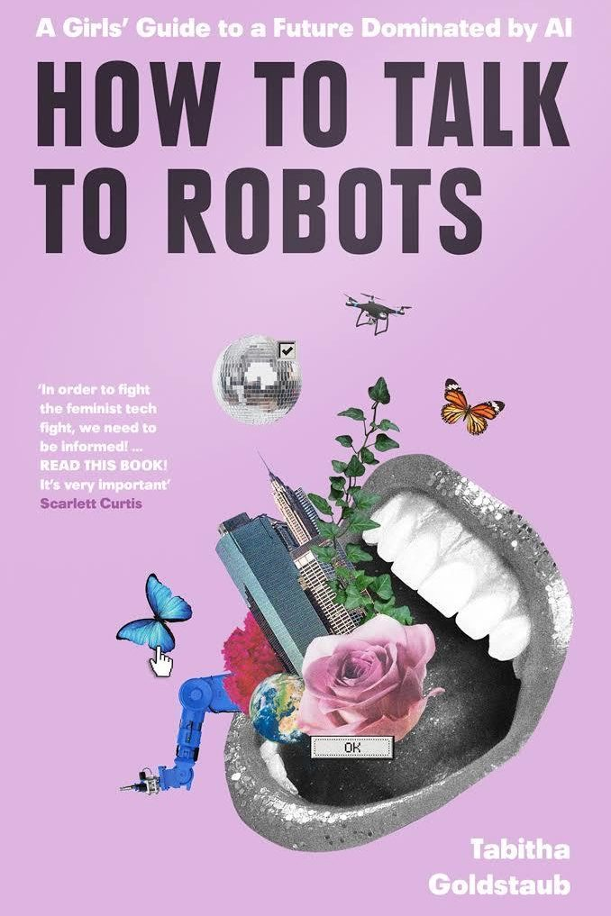 Semaine tastemaker Tabitha Goldstaub cover of her book how to talk to robots
