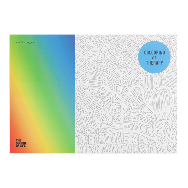 Semaine tastemaker Yinka Ilori uses this coloring as therapy posters by School Of Life