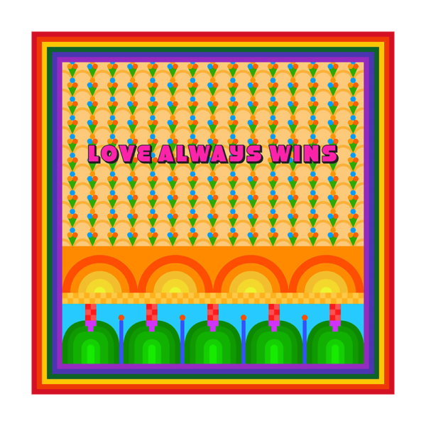 Semaine tastemaker Yinka Ilori originally designed print LOVE ALWAYS WINS