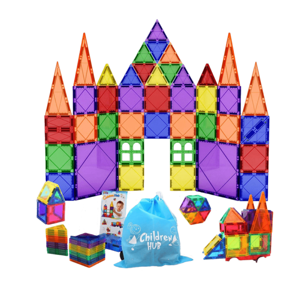 Semaine tastemaker Yinka Ilori encourages to plays magnetic tiles set by Children Hub