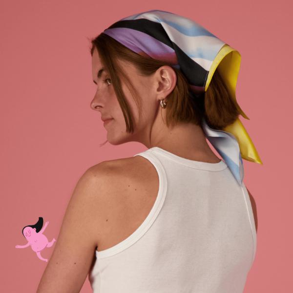 Semaine tastemaker Rose of the Wild Bunch Exclusive Silk Camilla Engström Bandana