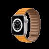 Semaine tastemaker Christiaan wears this leather Apple Watch